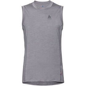 Odlo Merino 130 Top Crew Neck Singlet Men, grey melange